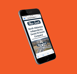 New South Independently Owned Billboard Company - orange background