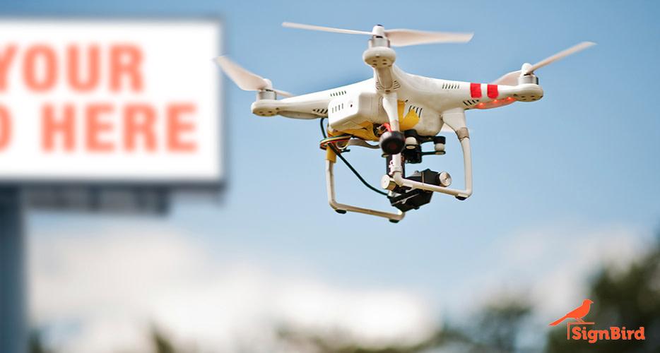 Billboard drone image